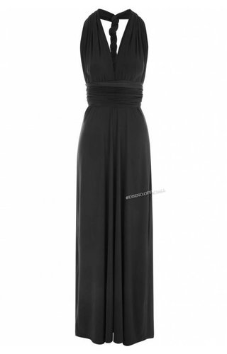 BLACK - MULTI-WAY MAXI DRESS