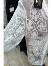 WHITE - 'RUBY' KIMONO FLOWER LACE