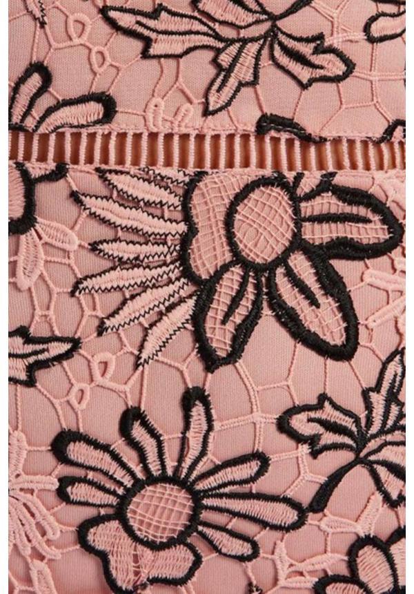 PINK - 'LUANNE' CROCHET LACE MERMAID DRESS