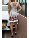 'LENA' - FLOWER STRIPED DRESS