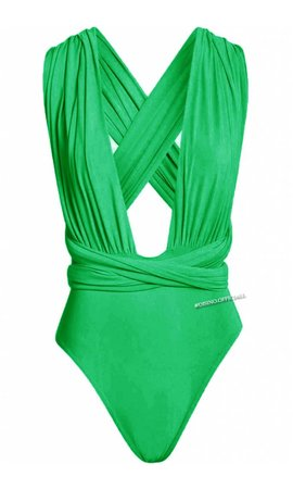 GREEN - MULTIWAY WRAP BODYSUIT