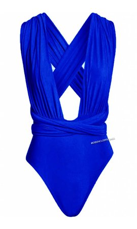 ROYAL BLUE - MULTIWAY WRAP BODYSUIT