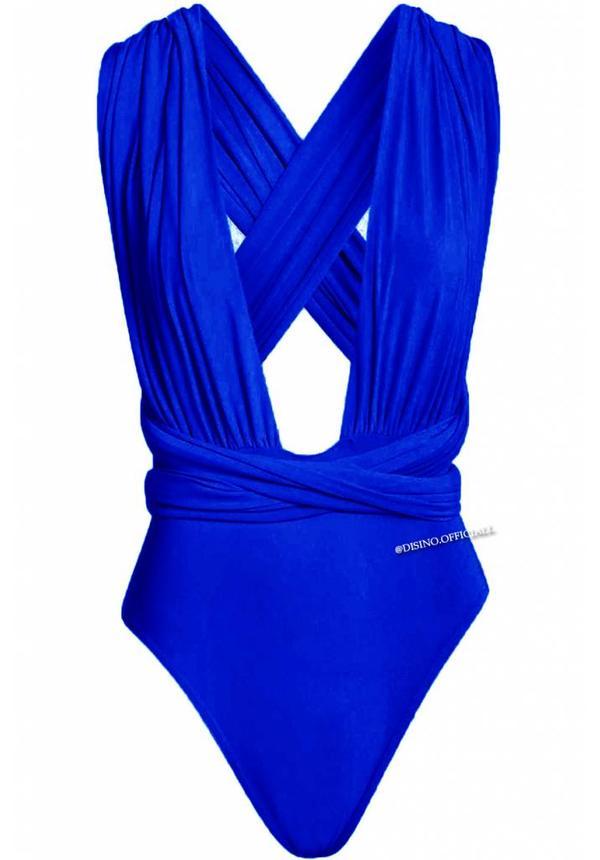 ROYAL BLUE - MULTIWAY WRAP BODYSUIT
