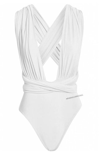 WHITE - MULTIWAY WRAP BODYSUIT