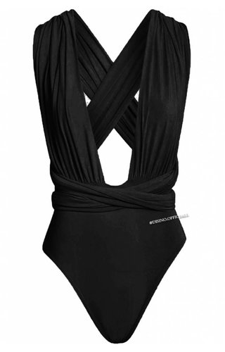 BLACK - MULTIWAY WRAP BODYSUIT
