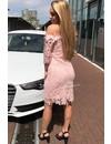 BLUSH - 'SARAH' CROCHET LACE OFF SHOULDER DRESS