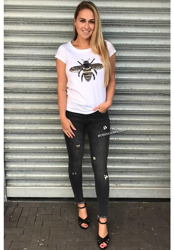 WHITE - INSPIRED QUEEN BEE - BASIC TEE