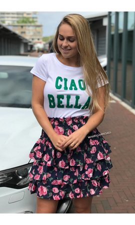 WHITE & GREEN - CIAO BELLA - BASIC TEE