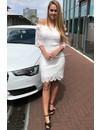 WHITE - 'SARAH' CROCHET LACE OFF SHOULDER DRESS
