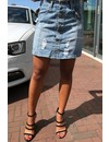 'JANNET' - BUTTON UP DENIM SKIRT