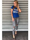 BLUE & WHITE - CIAO BELLA - BASIC TEE