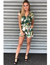 'ORLANDO' - PALM LEAVES WRAP PLAYSUIT