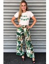 WHITE GREEN - GIRL POWER - BASIC TEE