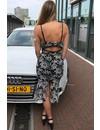 BLACK - 'LUANNE' CROCHET LACE MERMAID DRESS