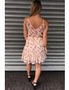 CREME - 'LAIYLA' FLORAL RUFFLE DRESS
