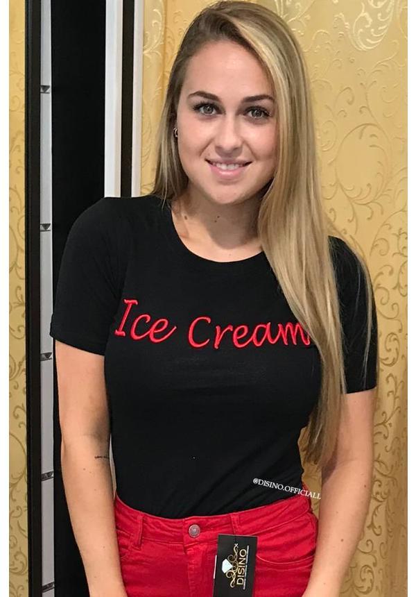 BLACK & RED - ICE CREAM TEE