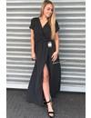 BLACK - 'POLKADOT' MAXI DRESS