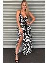 BLACK - 'GABRIELLA' BUTTERFLY MAXI DRESS