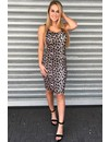 LEOPARD - 'KITTY' - SINGLET RIBBED DRESS