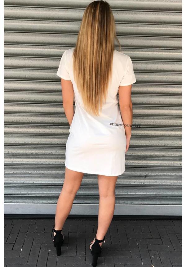 WHITE - 'SUPER GIRL' OVERSIZED TEE