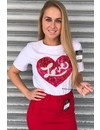 WHITE - RED LOVE TEE