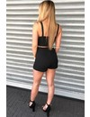 BLACK - 'KYLIE' - BUTTON UP TWO PIECE SET