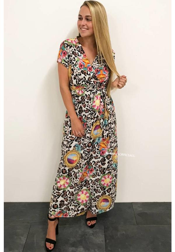 'KELSEY' - COLORFULL LEOPARD MAXI DRESS