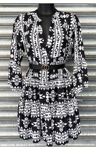 BLACK - 'DONNA VIVA' - INSPIRED DRESS