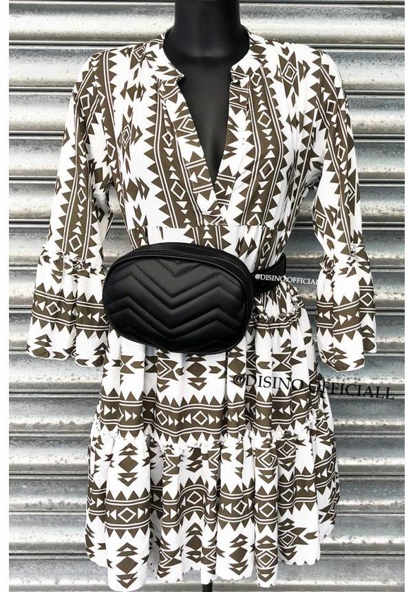 WHITE KHAKI - 'DONNA VIVA' - INSPIRED DRESS