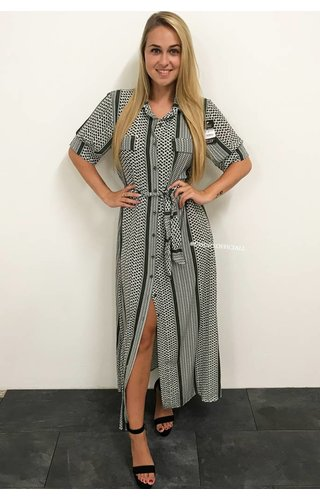 GREEN - 'DONNA BELLA' - INSPIRED BLOUSE MAXI DRESS