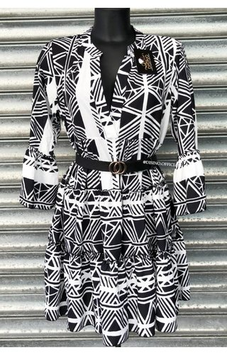 WHITE - 'DONNA ISA' - PREMIUM QUALITY INSPIRED DRESS