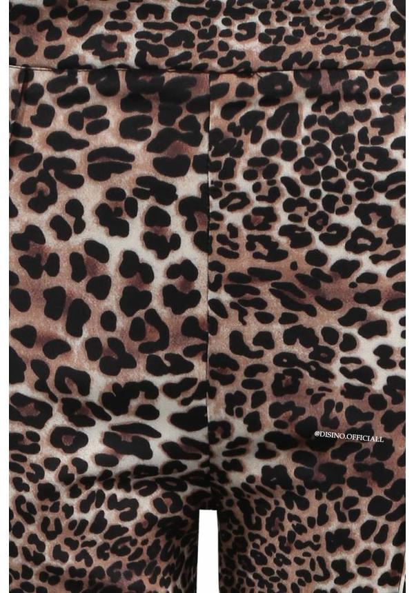 'BODINE' - LEOPARD CLASSY FLAIR PANTS