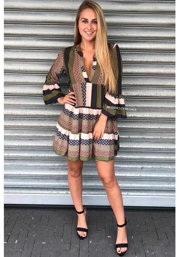 KHAKI - 'DONNA MILA' - INSPIRED DRESS