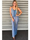 BLUE - 'DEMI' - STRIPED GLITTER FLAIR TWO PIECE