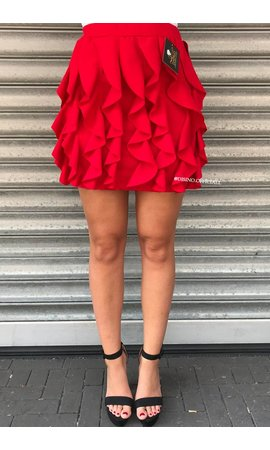 RED - 'BUBBLEGUM' SKIRT