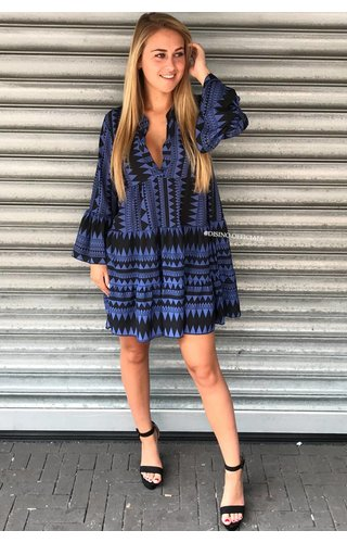 BLUE - 'DONNA MARIA' - INSPIRED DRESS
