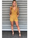 MUSTARD - STRIPED CLASSY PLAYSUIT
