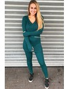 PETROL GREEN - 'REINA' - PREMIUM QUALITY RIBBED TWIN SET
