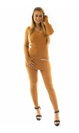 CAMEL - 'REINA' - PREMIUM QUALITY RIBBED TWIN SET