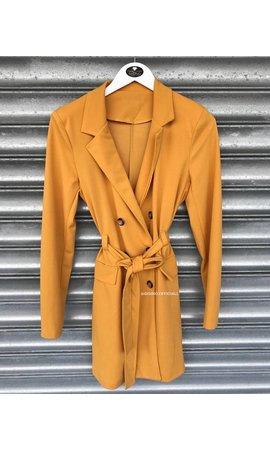 OCHER - 'MADISON' - BUTTON TRENCH COAT BLAZER