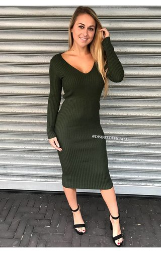 OLIVE GREEN - 'REINA' - PREMIUM QUALITY COMFY DRESS