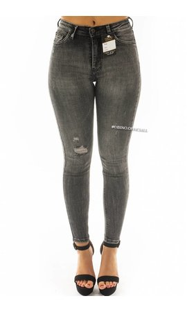 QUEEN HEARTS JEANS - GREY WASHING - SKINNY EXTREME HIGH WAIST