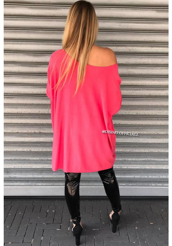 CORAL - 'JACKY' - OVERSIZED COMFY SWEATER