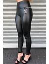 MAT BLACK - ESMERALDA - LEATHER LOOK LEGGING PANTS