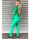 GREEN - 'REINA' - PREMIUM QUALITY RIBBED TWIN SET