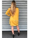 MUSTARD - 'EVY' - OVERSIZED COMFY COL SWEATER DRESS