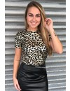 GOLDIE - SHINY LEOPARD TEE
