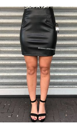 BLACK - 'JANET' - KEEP IT CLASSY MINI SKIRT