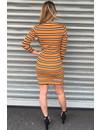 OCHER - 'CINDY' - INSPIRED STRIPED DRESS