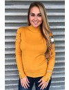 OCHER - SOFT FABRIC STUDS SWEATER